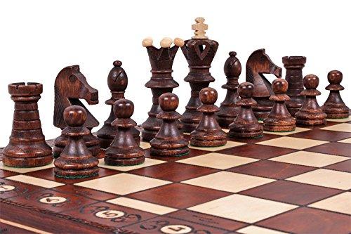 The Jarilo - Unique Wood Chess Set, Pieces, Chessboard & Storage 3