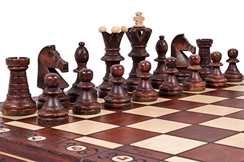 The Jarilo - Unique Wood Chess Set, Pieces, Chessboard & Storage 3