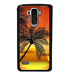 printtech Palm Trees Sunset Back Case Cover for LG G4 Stylus ,Versions: H631 (T-Mobile); MS631 (Metro PCS); H635 (EMEA); H540 (UAE); H630D (India); H542 (Mexico)