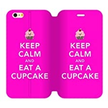 buy Generic Keep Calm And Eat A Cupcake Tpu Back Cover Case And High Grade Pu Leather For Iphone6 Plus 4.7 Aci-98