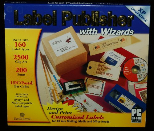 Label Publisher with Wizards Clip Art Postal Bar Code UPC