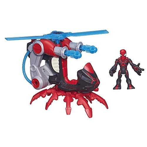 Playskool Heroes Marvel Super Hero Adventures Arachno-Blade Vehicle with Big-Time - 1