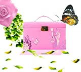 Wholesale!!! Vogue Pink Handmade Leather Jewelry Box, The Best Gift Idea, Ship from UK