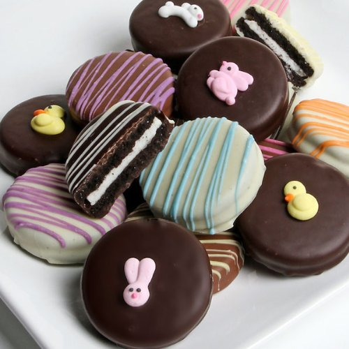 Dylan's Candy Bar Belgian Chocolate-Covered Easter Oreo Cookies - Dozen