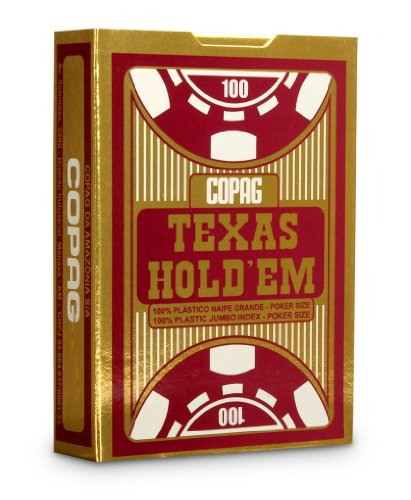 Copag Poker Size Jumbo Index Texas Holdem Playing Cards (Single Red Deck)