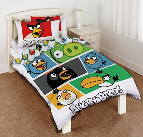 housse de couette oiseaux unique en col re angry birds. Black Bedroom Furniture Sets. Home Design Ideas