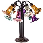 Mercury Glass Lily Table Lamp