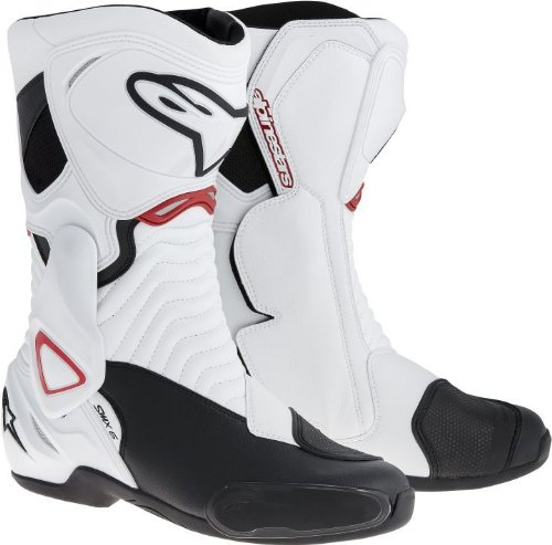 Alpinestars - Bottes - S-MX 6 - Couleur : Blanc/Noir/Rouge - Pointure : 42