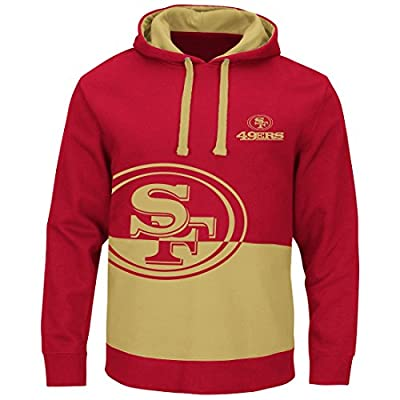"San Francisco 49ers Majestic NFL ""Coin Toss"" Men's Pullover Hooded Sweatshirt"