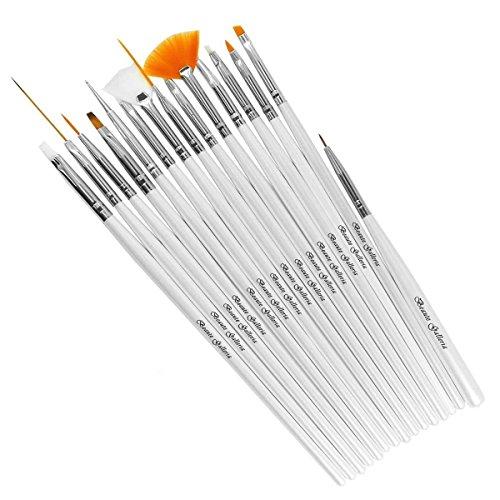 Beaute Galleria - 15 pcs Nail Art Brush Set (Manicure Brush Set compare prices)