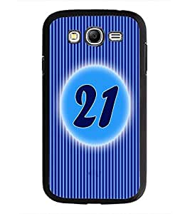 PrintDhaba Numerology Number 21 D-2579 Back Case Cover for SAMSUNG GALAXY GRAND NEO (Multi-Coloured)