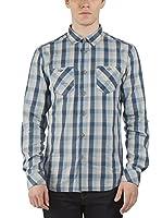 Bench Camisa Hombre (Azul / Gris)