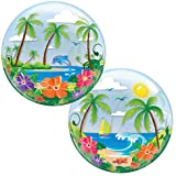 22 Tropical Beach Scene Bubble Bal
