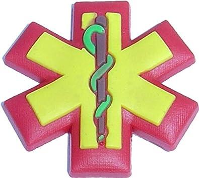 Medical Alert Caduceus Shoe Snap Charm Jibbitz Croc Style