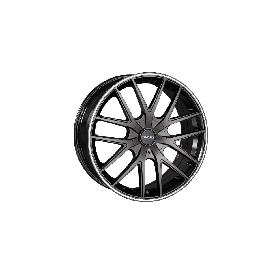 Touren TR60 3260 Wheel with Black Finish w/ Red Ring (18x8/5x114.3mm)