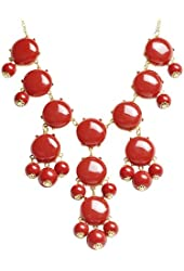 Bubble Necklace, Statement Necklace, Bubble Jewelry(Fn0508-Red)