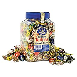 Office Snax Royal Toffee Candy - Assorted - Resealable Jar - 1 Each
