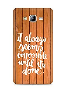 AMEZ it always seems impossible untill its done Back Cover For Samsung Galaxy ON5