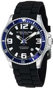 Stuhrling Original Men's 395R.33U61SET Aquadiver Regatta Champion Sport Swiss Quartz Divers Rubber Strap Set Watch