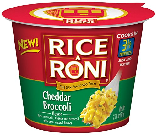 Rice a Roni Cups, Cheddar Broccoli, Individual Cup (Pack of 12 Cups) (Single Serve Steel Cut Oats compare prices)