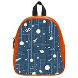 Cute Little Pattern Group Soft PU Backpack School Bag
