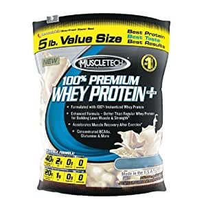 Muscletech 5lb 100% Premium Whey Protein Plus - Deluxe Vanilla