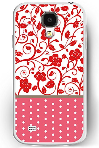 S4 Case, Samsung Galaxy S4 Case Slim Fit Hard Back Cover for Galaxy S4 Lovely Floral and Red Polka Dots (Pink 3d Melt Ice Cream Galaxy S4 compare prices)