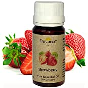 Devinez Strawberry, Vanilla Essential Oil For Electric Diffusers/ Tealight Diffusers/ Reed Diffusers, 15ml Each