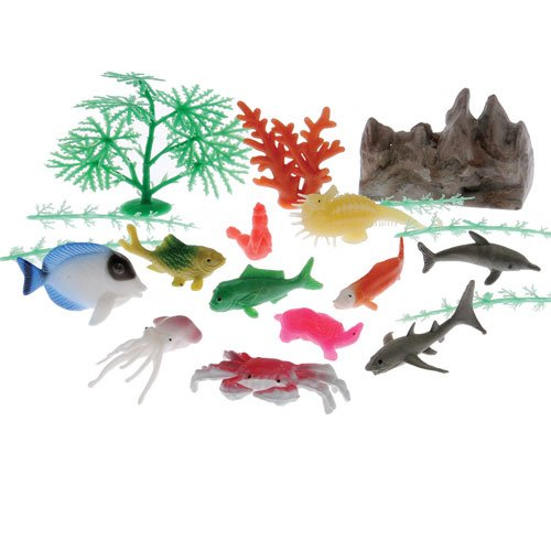 Ocean Animal and Plant Landscape Set