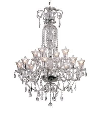 Transglobe Lighting 12-Light Traditional Crystal Chandelier