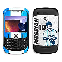 ezyPRNT Blackberry Curve 8520 Lionel Messi 'Messiah' Football Player mobile skin sticker