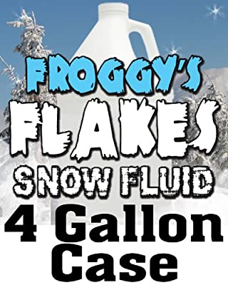 4 Gal - DRY Snow Juice Fluid - Low Residue Snow Machine Flakes from Froggys Fog