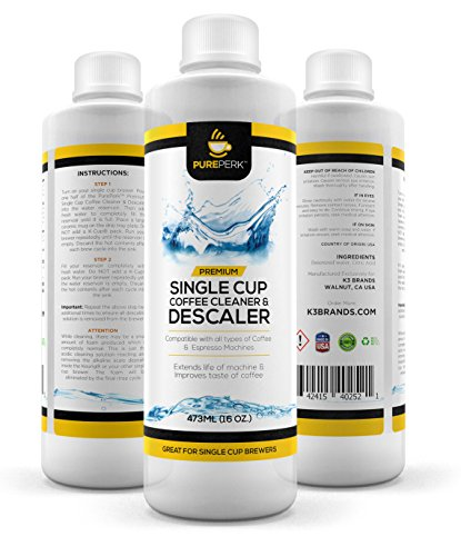 Pure Perk Coffee Machine Cleaner & Descaling Solution Works with All Brands Including Keurig ...