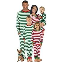 SleepytimePjs Mens Red Stripes Family Matching Pajamas