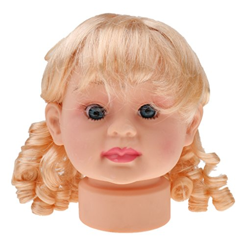 Baby Girls Doll Head Face Manikin Mannequin Hat Scarf Display Model Stand (Kids Manikin Head compare prices)