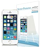 amFilm Premium Screen Protector Film Clear (Invisible) for Apple iPhone 5S, iPhone 5C, iPhone 5 (3 Pack) [Lifetime Warranty]