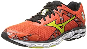 Mizuno Men's Wave Inspire 10 Running Shoe,Tangerine Tango/Sulfur Spring/Black,10.5 M US