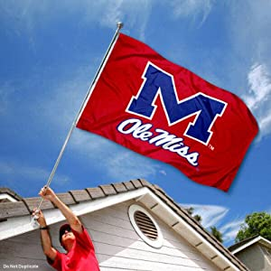 Buy Mississippi Rebels Ole Miss University Large College Flag by College Flags and Banners Co.