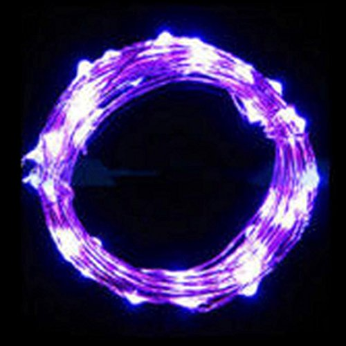 Euone 2M String Fairy Light 20 LED Battery Operated Xmas Lights Party Wedding Lamp (purple)