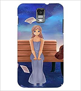 PrintDhaba Cute Girl D-2599 Back Case Cover for SAMSUNG GALAXY S5 (Multi-Coloured)