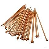 Set of 36 Single Pointed Carbonized Bamboo Crochet Hooks Knitting Needles