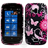 Black Butterfly TPU Gel Case Cover For Nokia Lumia 610