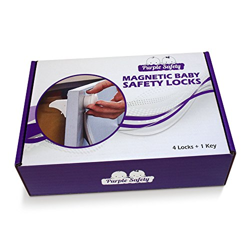 Magnetic Baby Safety Locks for Cabinets & Drawers - Baby Proof & Easy Install - No Screws or Drilling - 4+1 Set