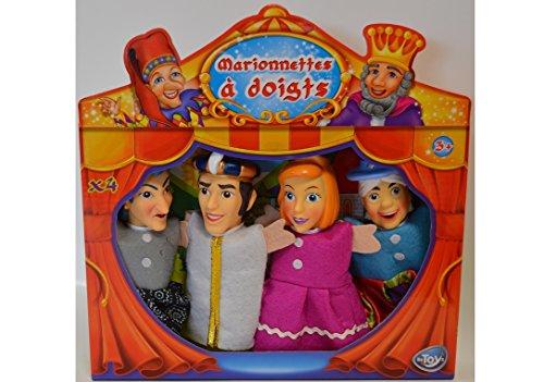 Coffret 4 marionnettes à doigt - Thème Cendrillon