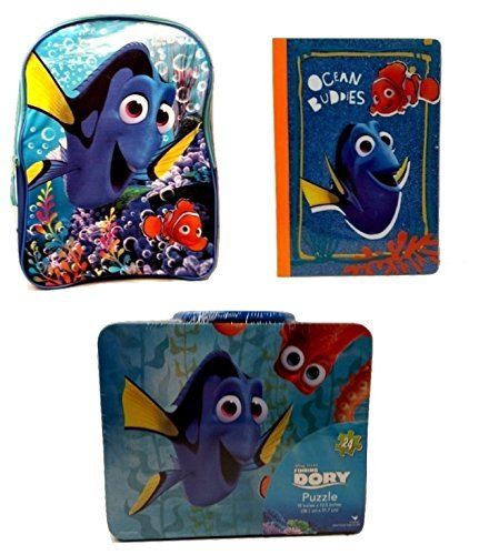 [Kids Back to School Pre-school Elementary Backpack Finding Dory Nemo Lunch Box Notebook Bundle 3 Piece] (Finding Nemo Costume Homemade)
