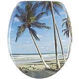 foto Wenko 17605100, Sedile WC, Palm Beach Mare/Palme