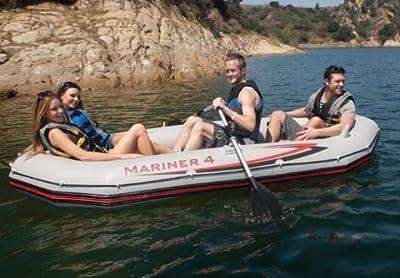 Intex 4 Person Mariner Inflatable Boat Set