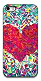 The Racoon Lean Love triangles hard plastic printed back case / cover for Apple Iphone 5/5s