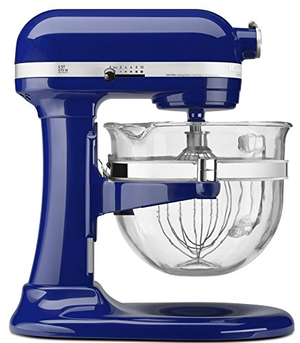 Purchase KitchenAid KF26M2XBU 6-Qt. Professional 600 with Glass Bowl Cobalt Blue