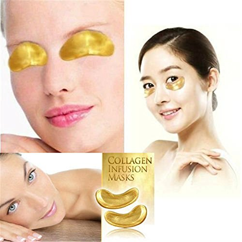 Ardisle oro Bio Collagene Cristallo Maschera per occhi viso collo anti invecchiamento rughe Maschera